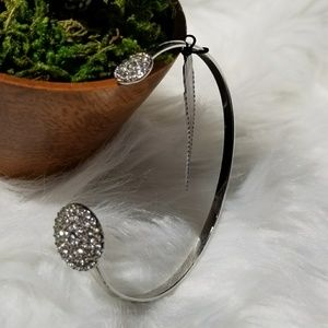 The Limited Slip on Silver Bangle Bracelet